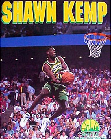 Shawn Kemp ejecutando el molino de Dominique Wilkins