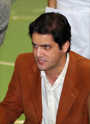 Antonio Herrera en un tiempo muerto (Foto: Chema González)