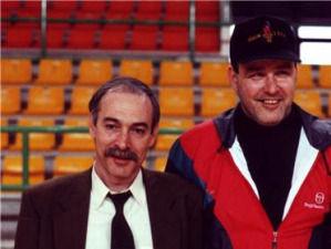 Tim Shea con Luis Rodríguez, GM del Atlético de Madrid-Villalba (foto cedida por Tim Shea)