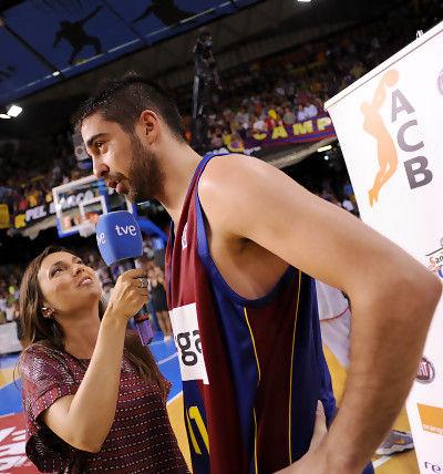 El MVP del partido Navarro habla para TVE. (Foto:dnavarro.es)