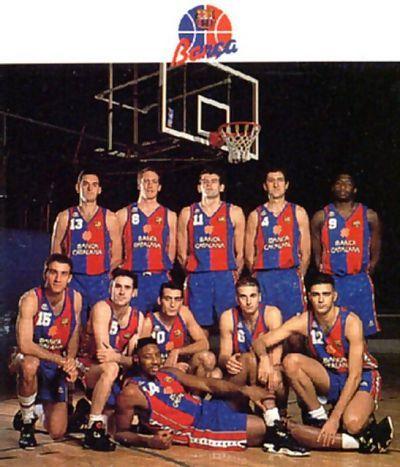 Plantilla del curso 92-93: Zapata, Gneiting, Savic, Jiménez, Jones, Epi, Galilea, Montero, Esteller, Paraiso y estirado, Norris