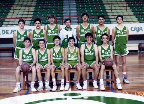 Chufi, con su inseparable 10, en el cadete del Cajamadrid 1990