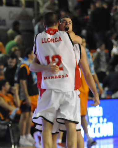 Montañez y Llorca celebran la victoria (foto: FM)