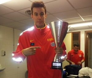 Izquierdo con la sub 20 (Foto: CB Valladolid)