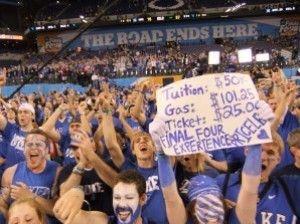 La afición de Duke vibra con el triunfo (www.bluedevilsnation.net).