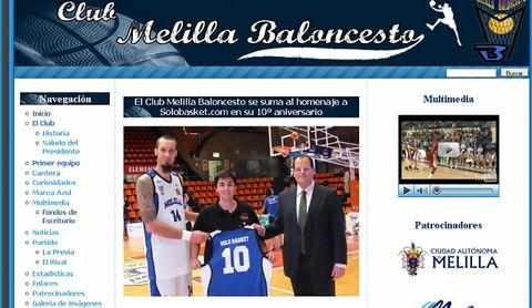 Melilla llevó el homenaje hasta su propia página web