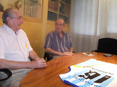Enric Piquet, presidente de la Federación Catalana, junto a su vicepresidente, otro histórico: Lluis Cortés (Foto: FCBQ)