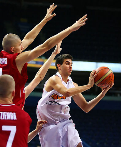 Ángel Aparicio este verano en Vilnius en el Europeo U18 (foto FIBA Europe)