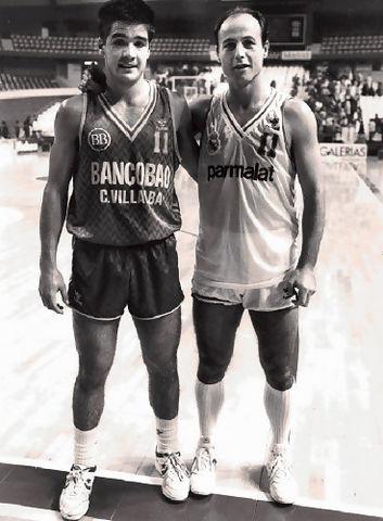 Juan Antonio Corbalán y Quique Ruiz Paz coincidieron en el Real Madrid del curso 86/87 y la siguiente temporada Quique acabó en el Bancobao