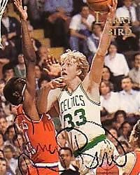 Larry Bird inmortalizado en un cromo