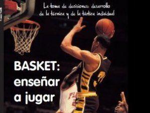Caratula del libro, Basket: Enseñar a jugar, escrito por Franco Pinotti
