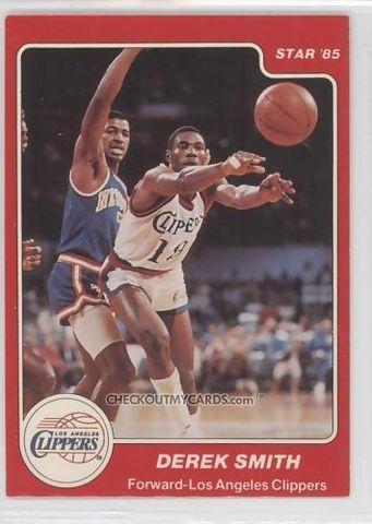 Derek Smith, cromo de su etapa en los Clippers.