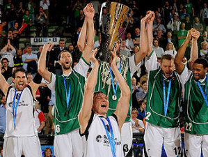 Unics Kazan celebra el título de la Eurocup tras derrotar a Cajasol (foto: Eurocup Basketball)