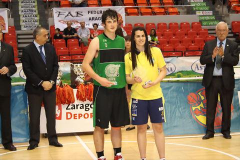Gerard Gomila y Leticia Romero fueron los dos MVPs del Campeonato Cadete 2011 (Foto: Fernando Gordo)