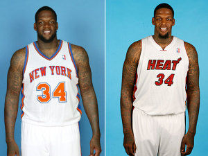 Eddy Curry, Knicks-Heat (Foto nba.com).
