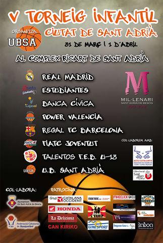 Cartel del 5º Torneo Infantil de Sant Adrià (Foto UBSA)