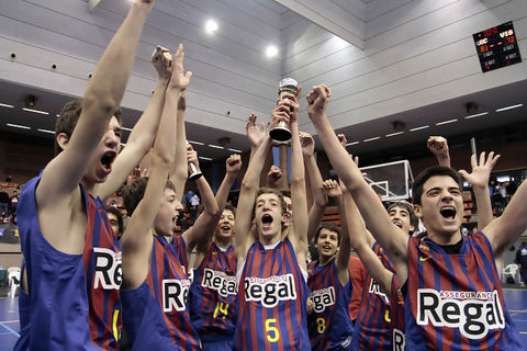 El FC Barcelona Regal parte como favorito tras haber conseguido la MiniCopa (Foto ACBMedia)