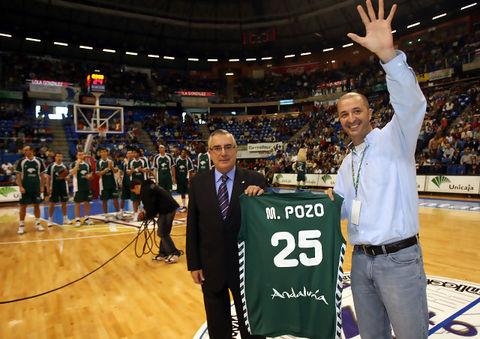 Mariano Pozo es reconocido por Unicaja a sus 25 años fotografiando al club (Foto: Mariano Pozo)