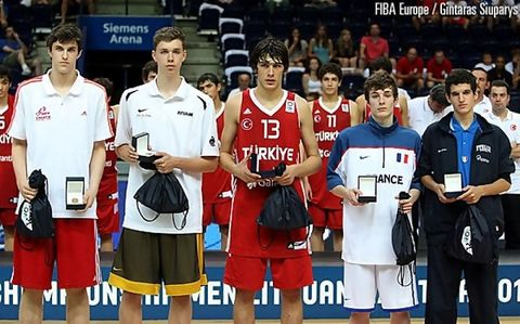 Europeo U16: cinco ideal (foto FIBA Europa)