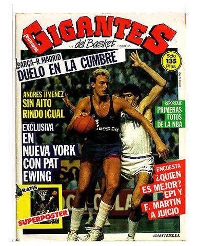 Portada del nº 1 de Gigantes con Greg Wiltjer defendido por Fernando Martín. Sin duda, una pieza de coleccionista