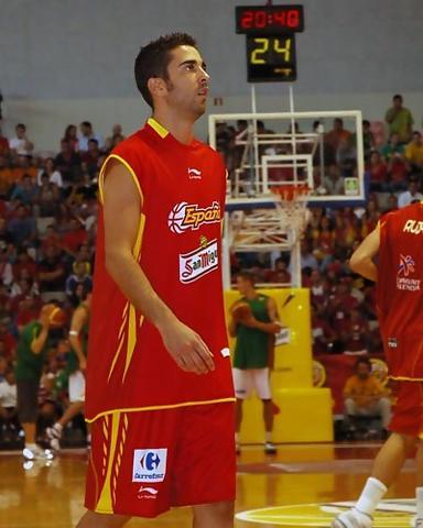 Juan Carlos Navarro en pleno calentamiento (Foto: Chema González)