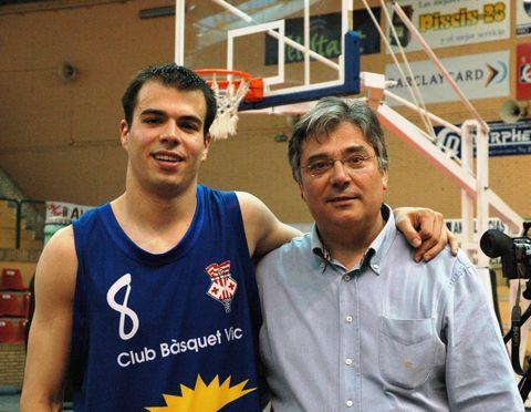 Basquetmaniatic con su sobrino Martí Nualart, un clásico de las ligas FEB
