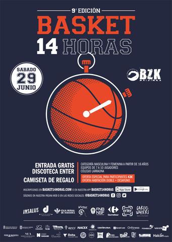 El Basket 14 horas (torneo callejero 5x5 femenino y masculino para +16 años)