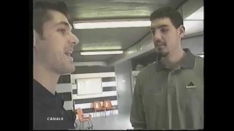 Luis Alberto recibe a Luis Scola en su primera visita a Vitoria