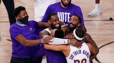 Lakers celebran el titulo 2020