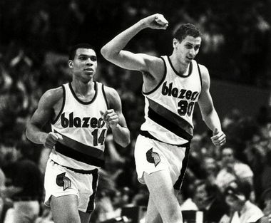Sam Bowie y Darnell Valetine (Foto: The Oregonian).