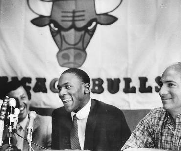 Michael Jordan, presentado por los Bulls (Foto: Suns Time Media)