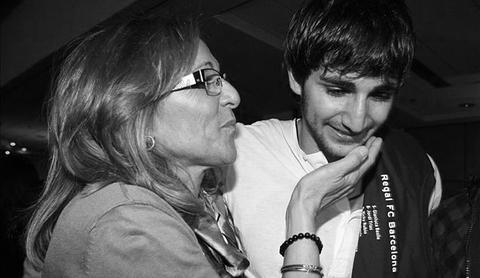 Tona Vives y su hijo Ricky Rubio
