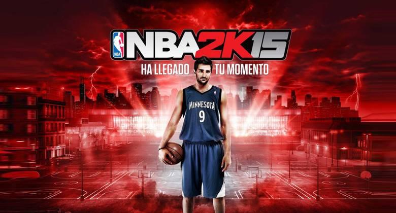 Ricky Rubio protagonista en la portada de NBA2K15  en España