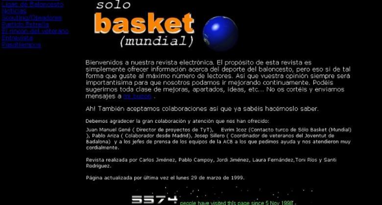 Así nació Solobasket, hijo de Solobasket Mundial, tras el verano de 1998