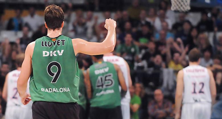 Llovet celebra una canasta. Foto: victorsalgado.com