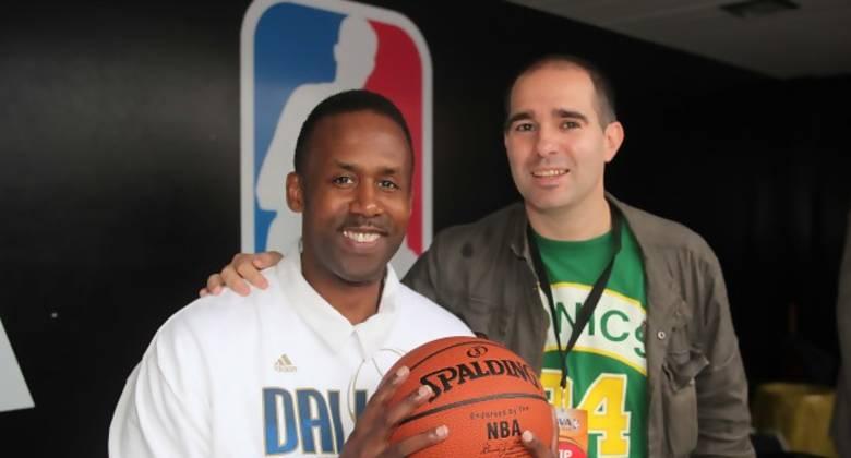 Rolando Blackman con nuestro redactor Igor Minteguia