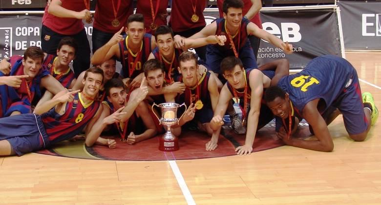 FC Barcelona, Campeón de España cadete 2014 (foto FEB)