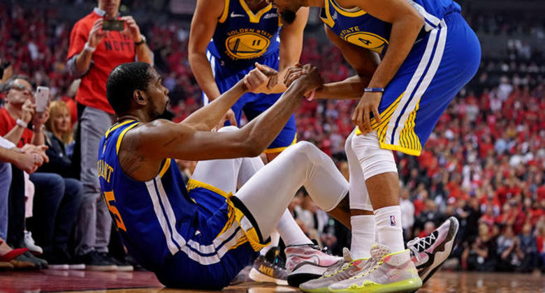 Kevin Durant descartado en los Warriors: