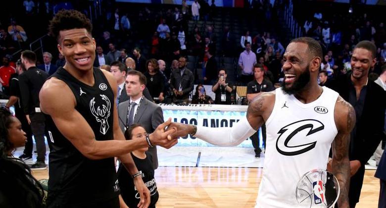 Giannis Antetokounmpo y LeBron James All Star 2019