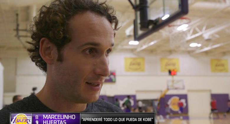 Primera entrevista de Marcelinho Huertas en los Lakers