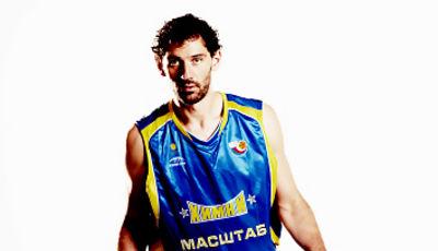 Jorge Garbajosa, con su nueva equipación (Foto: Khimki)