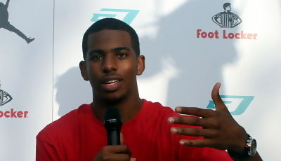 Chris Paul, durante la rueda de prensa