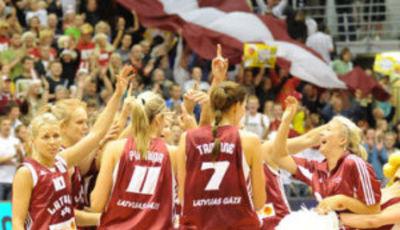La selección letona apoyada por su público será el gran rival de España (foto: fibaeurope.com)