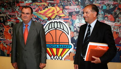 Vicente Solà y Paco Raga, los nuevos dirigentes del valencia basket club (Foto: JML)