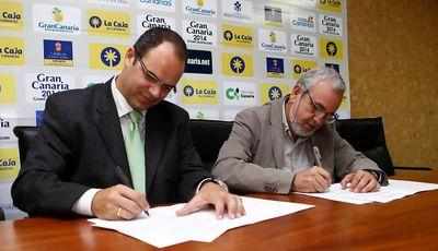 Gran Canaria y UB firmaron su acuerdo (Foto: GC 2014)
