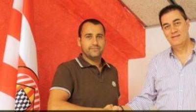 Ambos presidentes tras la firma del acuerdo (Foto: Girona FC)