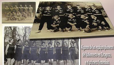 Fotos con algunos de los componentes que dieron los primeros pasos como jugadores de baloncesto en la comunidad maña