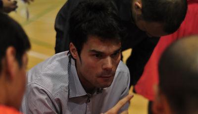Borja Comenge en un tiempo muerto (foto Chema González)