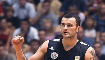 Gurovic en un partido con el Partizan (Foto: KK Partizan)