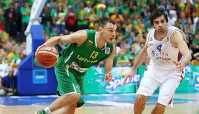Jasikevicius fue de las grandes ocasiones (Foto FIBA Europe/Castoria/Matthaios(